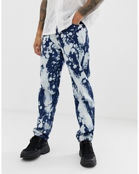 Collusion X005 Straight Leg Jeans With Bleach Splatter