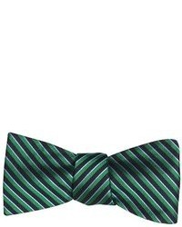 Ben Sherman Green Navy And Lavender York Striped Bow Tie