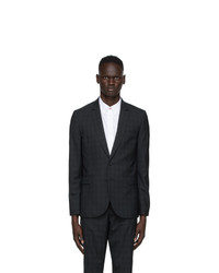 Ps By Paul Smith Navy And Green Check Blazer