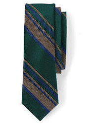 Lands' End Silk Melange Stripe Necktie Red Melange Stripe