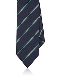 Barneys New York Striped Silk Blend Necktie