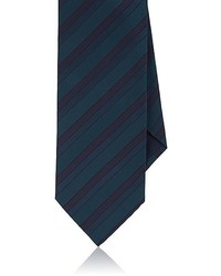 Brioni Striped Silk Faille Necktie