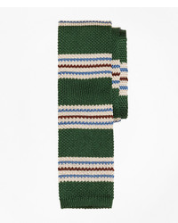 Brooks brothers triple stripe knit tie medium 1295356