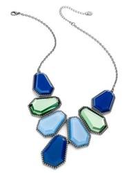 Alfani Hematite Tone Blue Bib Necklace