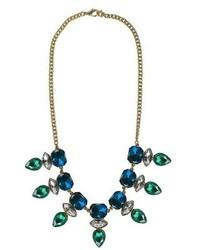 Faf Incorporated Bib Statet Necklace Bluegreengold