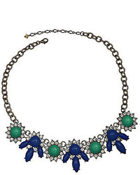 jcpenney Mixit Mixit Blue Green Stone Crystal Bib Necklace