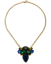 Charm & Chain Sandy Hyun Blue And Green Crystal Necklace