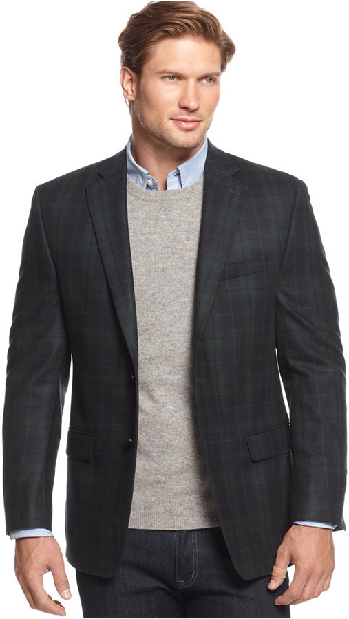 Lauren Ralph Lauren Black Watch Plaid Sport Coat | Where to buy ...