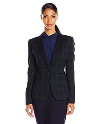 Plaid blazer medium 203843