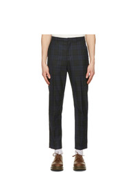 Wood Wood Black And Navy Check Surrey Trousers