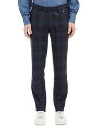 Michl Bastian Plaid Blackwatch Trousers Navy Size 32