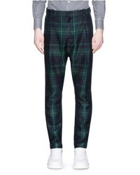 Sacai Tartan Plaid Pleated Pants