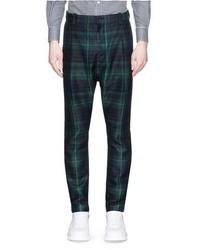 Tartan plaid pleated pants medium 447521