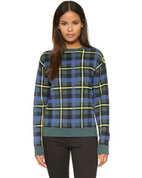 Etre cecile plaid boyfriend sweater medium 385262