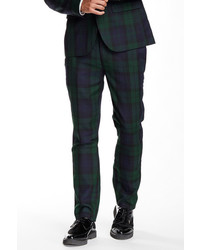 Edge By Wdny Glenn Plaid Flat Front Suit Separates Trouser