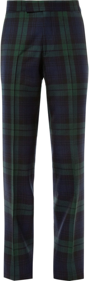 Kingsman Black Watch Tartan Wool Trousers | Where to buy & how to wear