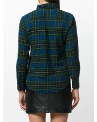 Isabel marant toile checked shirt with ruffles medium 7895537