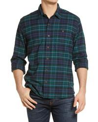 L.L. Bean Beanflex All Season Flannel Button Up Shirt