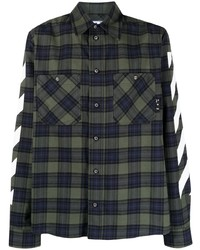 Off-White Diag Checked Flannel Shirt