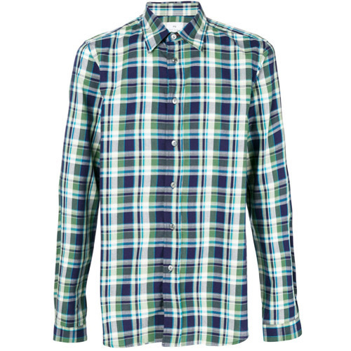 bc6bb4b599b2f7 Ps By Paul Smith Check Shirt, $157 | farfetch.com | Lookastic.com