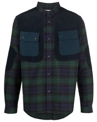 White Mountaineering Checked Elbow Patch Shirt