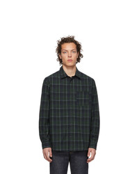 A.P.C. Green And Navy Plaid Julien Shirt