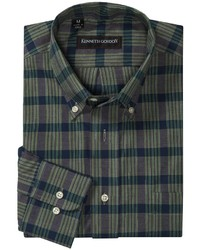 Kenneth gordon cotton plaid shirt medium 202273
