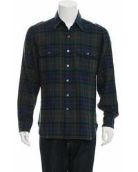 Ralph Lauren Purple Label Plaid Flannel Shirt