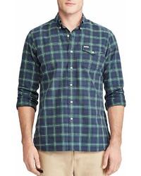 Plaid oxford long sleeve button down shirt medium 6983772