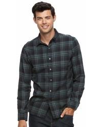 Apt. 9 Slim Fit Plaid Brushed Flannel Button Down Shirt