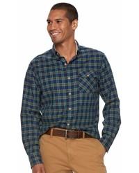 Sonoma Goods For Life Sonoma Goods For Life Flexwear Modern Fit Plaid Stretch Button Down Shirt