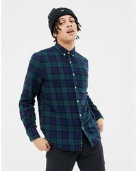 Penfield Young Tartan Check Regular Fit Shirt In Green