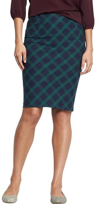 navy plaid high waisted pencil skirts where to buy