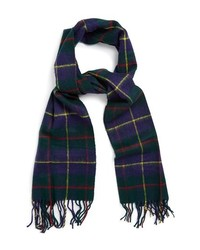 Navy and Green Plaid Scarf