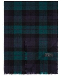 The Store At Bloomingdales Black Watch Plaid Cashmere Scarf