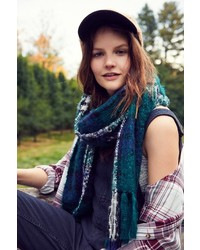 Urban Outfitters Brushed Plaid Blanket Scarf