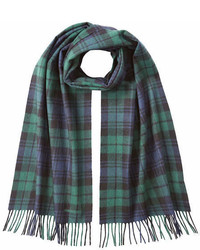 DSQUARED2 Wool Angora Blackwatch Plaid Scarf