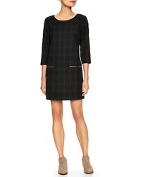Factory plaid shift dress medium 113616