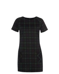 New Look Navy And Green Tartan Check Shift Dress