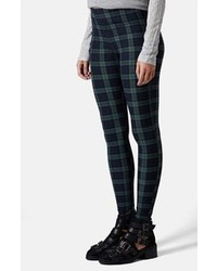 Topshop Blackwatch Check Maternity Leggings