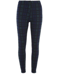Dorothy Perkins Green And Blue Check Button Treggings