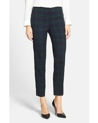 Anne Klein Plaid Slim Leg Pants