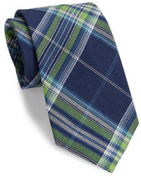 Textured plaid tie medium 447533