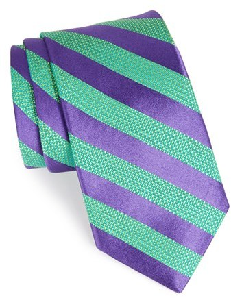 cc1f7847027b ... Green Vertical Striped Ties Ted Baker London Woven Silk Tie ...