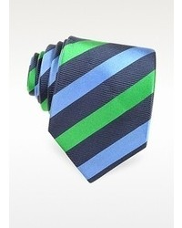 Forzieri Three Toned Striped Woven Silk Tie