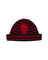 Alexander McQueen Stripe Crochet Skull Wool Beanie