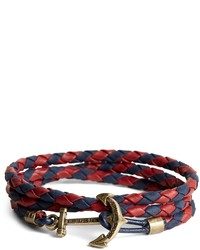 Brooks Brothers Kiel James Patrick Leather Wrap Bracelet