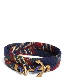 Brooks Brothers Kiel James Patrick Signature Tartan Wrap Bracelet