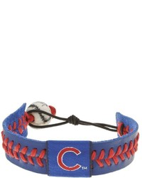Gamewear Chicago Cubs Leather Baseball Bracelet