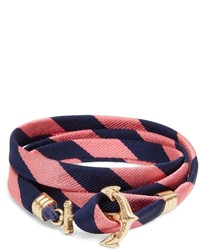 Brooks Brothers Kiel James Patrick Bb4 Stripe Wrap Bracelet